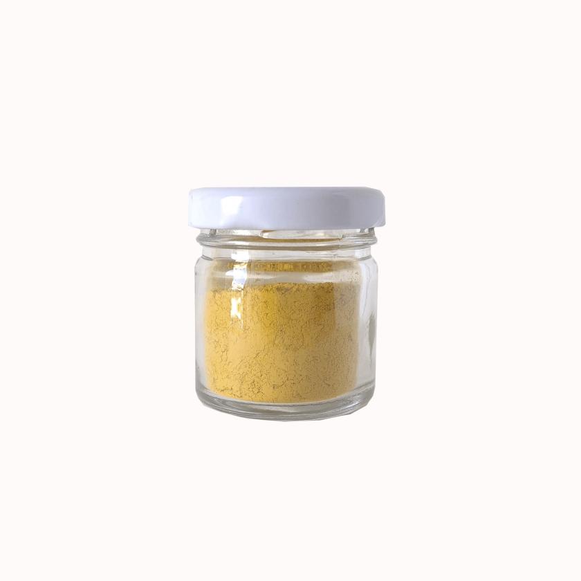 Pigmento natural ocre amarillo pequeño