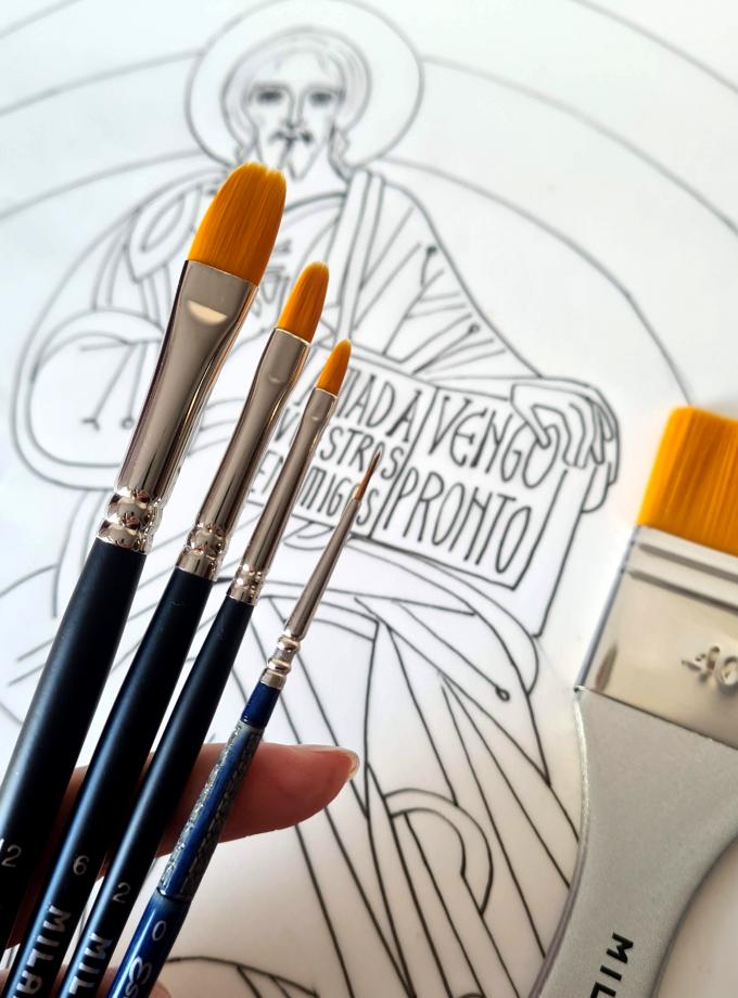 Pinceles para pintar cirios