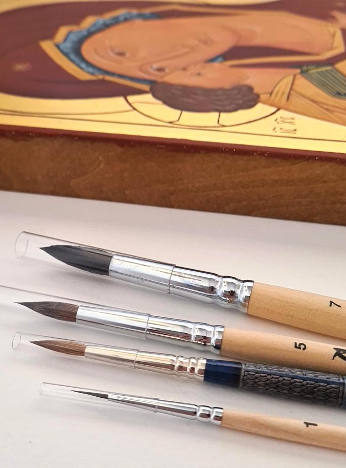 Pinceles para la escritura de iconos