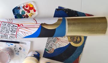 ¿cómo pintar el cirio pascual? paso a paso